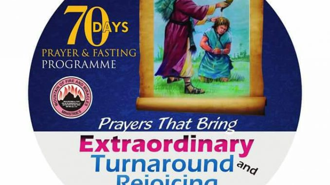 2018: MFM 70 DAYS FASTING AND PRAYER PROGRAMME